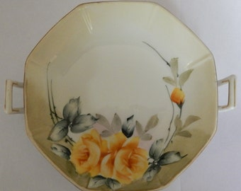 2 Handeled Hand Painted Nippon Candy Dish