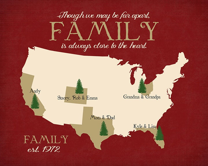 Christmas Gift For Family Long Distance Holiday By
