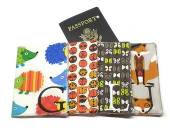 Personalized passport cover critters: choose your own fabric, passport case, passport wallet, passport holder, personalized gift idea