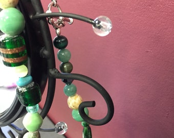 Green Multi-shaped anklet