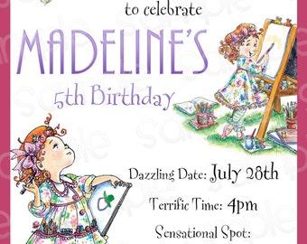 Fancy Nancy Artist Customizable Birthday Invitation