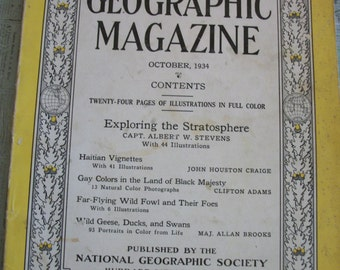 October 1934 The National Geographic Magazine Volume LXVI Number Four