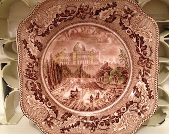 The Capitol at Washington Historic America Square Plate by Johnson Bros. C1913+ DP053