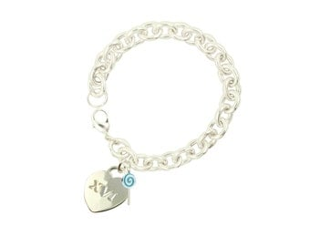 Silver Plated Sweet 16 XVI Bracelet BL (Free Shipping)
