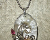 Spoonful Silver Plate Altered Art Vintage Spoon Pendant