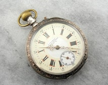 Vintage Swiss Made Silver Pocket Watch 42ZK1D-P