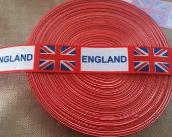 SALE 1' England Ribbon- crafting- hair bow ribbon- grosgrain-