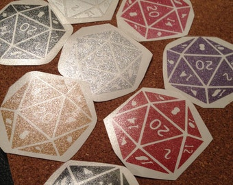 d20 Magic Dice Vinyl Decal