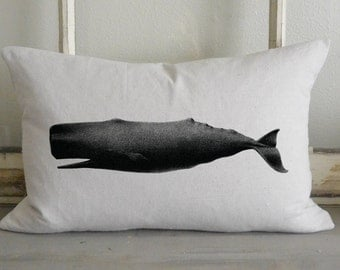 Whale 16 x 26 Pillow Cover_beach, nautical, sea life, home decor, cushion, throw pillow, gift, present.