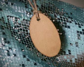 """Tiny Oval Tags, jewelry tags, small ovals, sized 1 1/2"""" x 1 1/8"""", set of 100"""