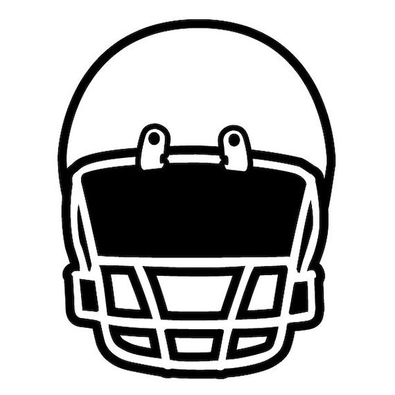 Football Helmet Front View : Instant download football helmet vector eps