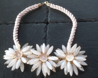 Large Flower Necklace, Vintage