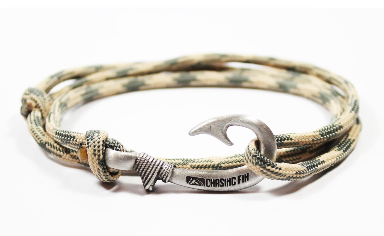 new adjustable paracord hook bracelet desert foliage