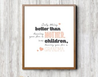 Grandmother (Nana) Framable Printed Quote