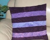 Purple Faux Suede Pillow ...