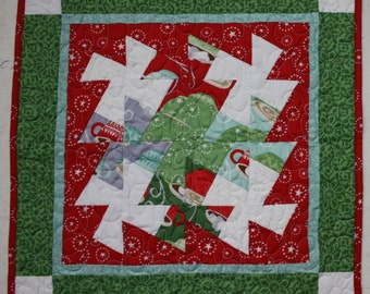 Christmas Table Runner Centerpiece In from the Cold by Moda