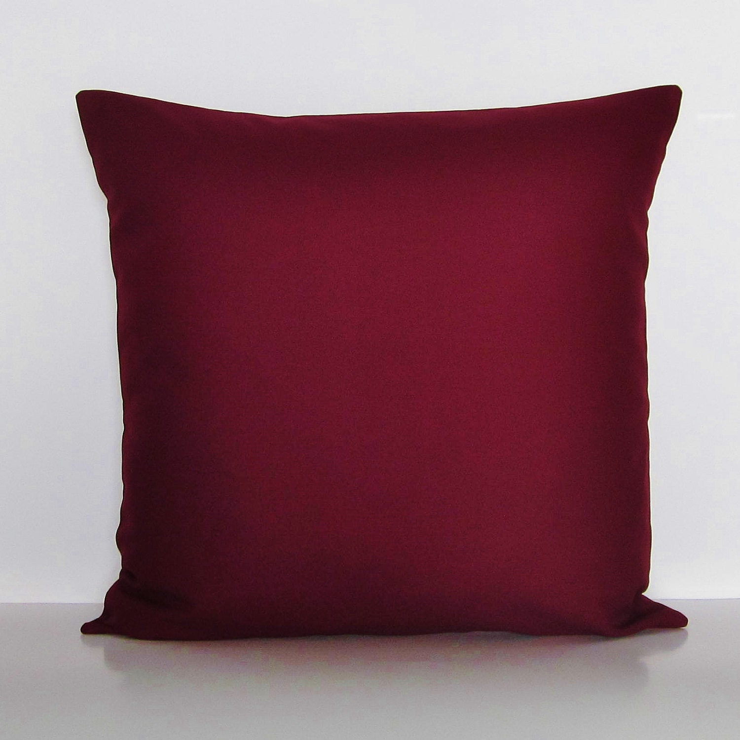 Throw Pillows Maroon : Burgundy Pillow Cover Decorative Throw Accent Pillow Couch