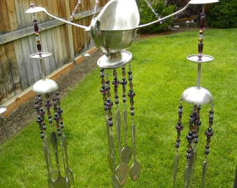 Winning View Wind Chimes By Whisperingmetalworks On Etsy With Goodlooking Wind Chime Art With Assorted Whimsical Silver Pieces  Funky Garden Art   Assorted Colors Of Purple Glass Beads  Spoons Forks Gravy Boat With Extraordinary Daleside Garden Centre Also National Botanic Garden In Addition Happy Garden Middleton And Gardener Jobs As Well As Hatton Garden Diamond Jewellers Additionally Garden Spike Shoes From Etsycom With   Goodlooking View Wind Chimes By Whisperingmetalworks On Etsy With Extraordinary Wind Chime Art With Assorted Whimsical Silver Pieces  Funky Garden Art   Assorted Colors Of Purple Glass Beads  Spoons Forks Gravy Boat And Winning Daleside Garden Centre Also National Botanic Garden In Addition Happy Garden Middleton From Etsycom