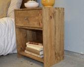 Mendoza Rustic Wood Nightstand
