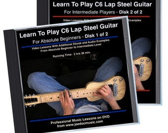 Details about  Learn How To Play C6 Lap Steel Guitar - Beginner To Intermediate Level 2 DVD Set