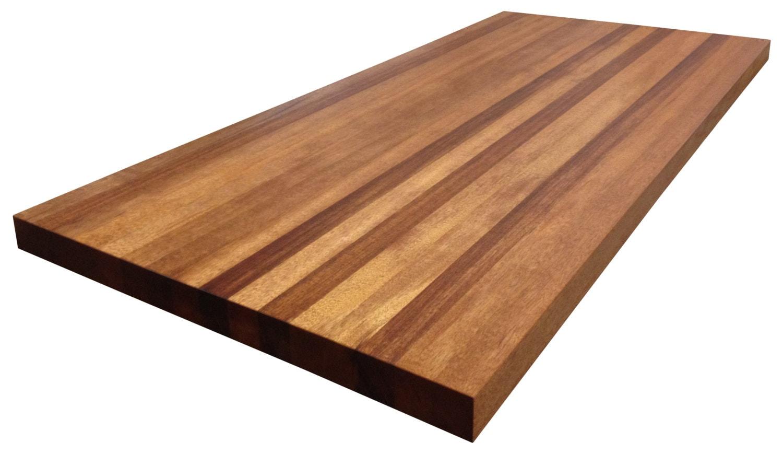 african mahogany butcher block countertop edge grain