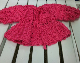 hot pink infant sweater