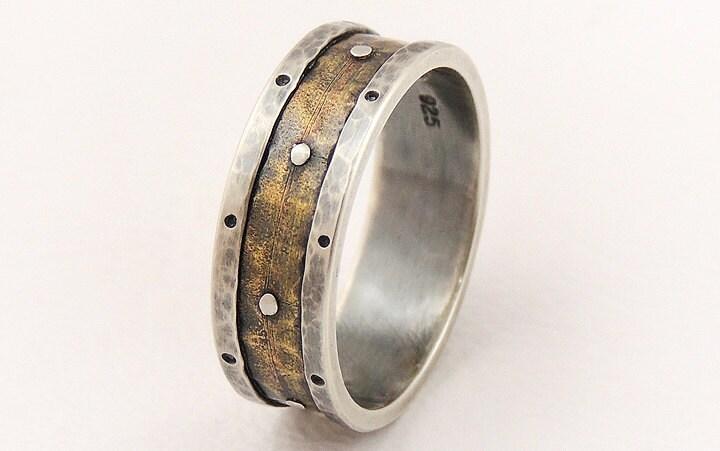 rustic wedding band ring men engagement ringmen wedding ringmedieval ring - Medieval Wedding Rings