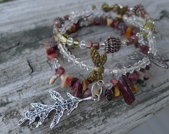 Set of 3 Swarovski Crystal Memory Wire Bracelets