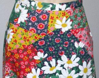 SALE 1970s Hippie Floral MAXI Skirt Pristine size S
