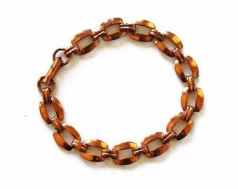 Vintage Copper Bracelet, Chunky Copper Bracelet, Chunky Copper Link Bracelet,  Wide Copper Bracelet