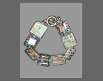 Square Glass Tile Bracelet