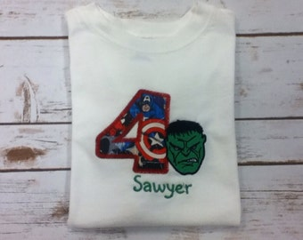 Birthday Shirt, Boy Birthday, Superhero, Superhero Birthday