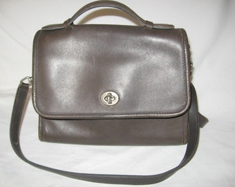 Coach Vintage Dark Brown Handbag/Vintage Coach Handbags/Vintage Designer Handbags