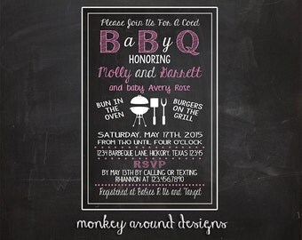 Barbeque Baby Shower Invitations