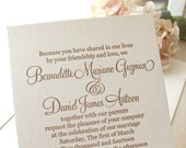 The Camellia Suite - Classic Letterpress Wedding Invitation Suite, Timeless, Traditional, White, Ivory, Gold, Elegant, Modern, Script