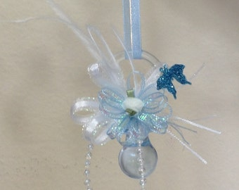 Baby Shower Favors - Blue Baby Boy Pacifier Shower Favor - Baby Boy Shower Favor - Baby Shower  - Set Of 10 For 30.00