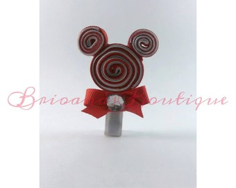 Mickey Mouse Disney inspired lollipop hair clip