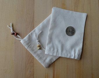 3.5 x 4.5 Muslin Drawstring Bag - set of 10