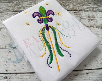 MARDI GRAS WAND machine embroidery design