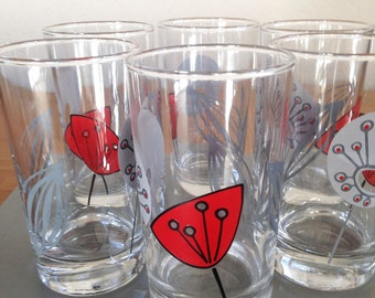 Space Age-Style Juice Glasses - Set of 6