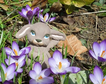 brown ceramic bunny figurine