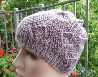 Pure Wool Patterned Hat  -  1471