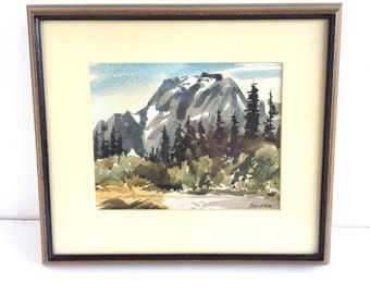 Early Jerry Becker Watercolor