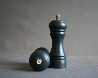 black french vintage salt & pepper shakers - redesign