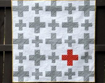 Plus Plus - a Digital pdf Quilt Pattern - Baby, Lap, and Queen Sizes t