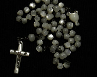 Antique rosary in mother of pearl