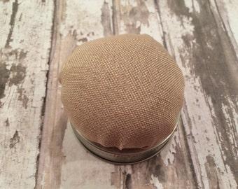 Mason Jar Pin Cushion Lid, Make Your Own Mason Jar Sewing Kit, Mason Jar Pin Cushion Lid, DIY Mason Jar Sewing Kit