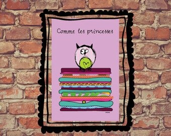 "Poster "" As the princesse"""