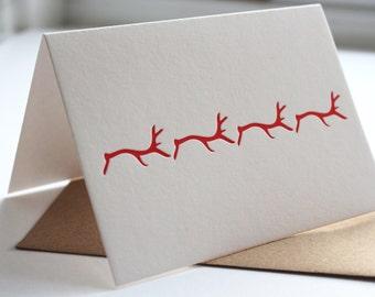 Reindeer March Notecard Set - Set of 6