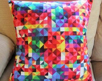 Colorful geometric design cushion, modern cushion, sofa pillow,